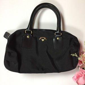 Victoria's Secret Black Zip Cosmetics Handbag Case